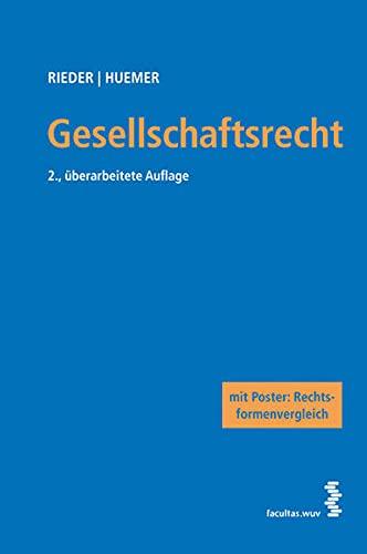 9783708907628: Gesellschaftsrecht: Mit Poster: Rechtsformenvergleich