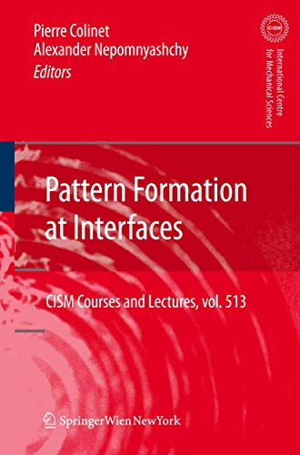 Pattern Formation at Interfaces (Hardcover): Colinet