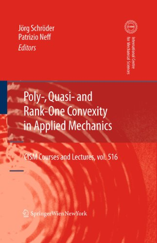 Poly-, Quasi- And Rank-One Convexity in Applied Mechanics (Hardcover)