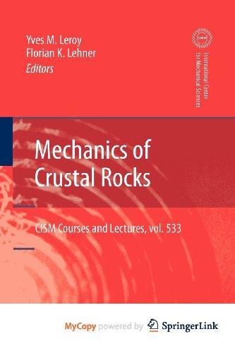 9783709109403: Mechanics of Crustal Rocks