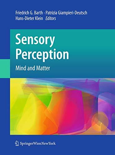 9783709119174: Sensory Perception: Mind and Matter