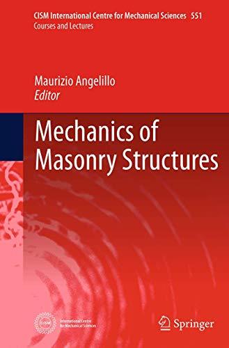 9783709119921: Mechanics of Masonry Structures (CISM International Centre for Mechanical Sciences)