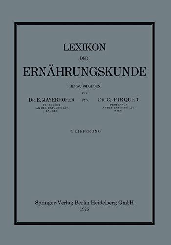 9783709121276: Lexikon Der Ernahrungskunde