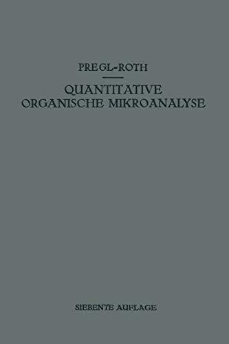 9783709134184: Quantitative Organische Mikroanalyse (German Edition)