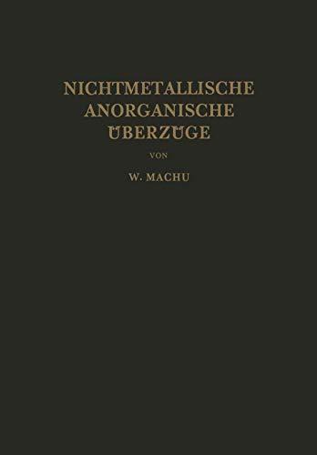 9783709150610: Nichtmetallische Anorganische Überzüge (German Edition)