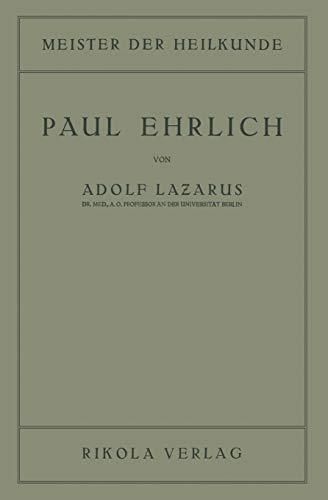 9783709152027: Paul Ehrlich (Meister der Heilkunde)