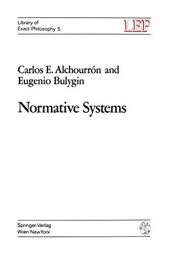Normative Systems: Carlos E. Alchourrón