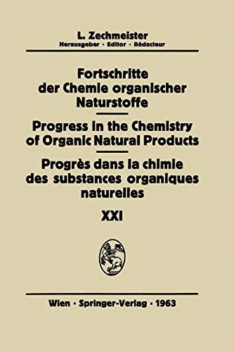 Progres Dans La Chimie Des Substances Organiques NaturellesProgress in the Chemistry of Organic ...