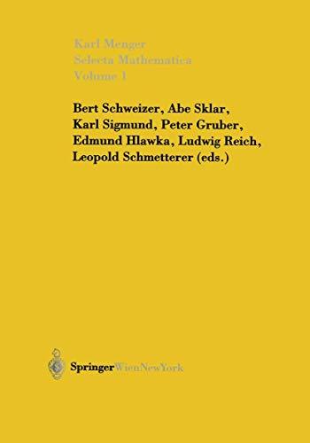 9783709172827: Selecta Mathematica: Volume 1
