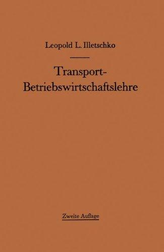 9783709179406: Transport-Betriebswirtschaftslehre