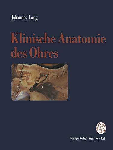 9783709191897: Klinische Anatomie des Ohres