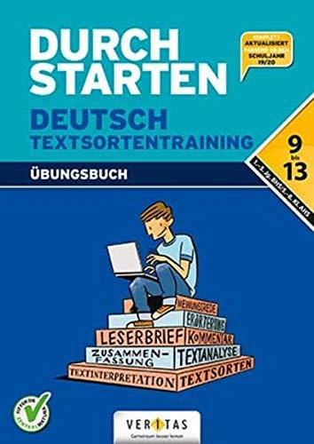 9783710107832: Durchstarten Deutsch Textsortentraining. Übungsbuch: 9.-13. Schuljahr