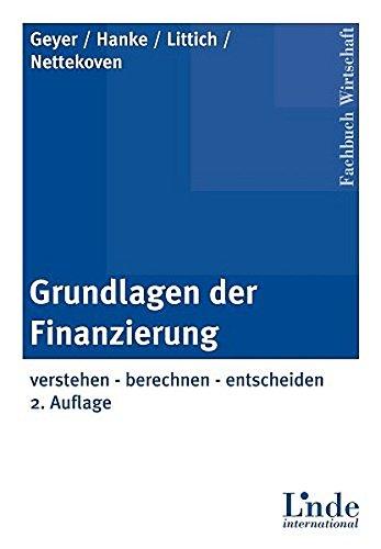 9783714300413: Grundlagen der Finanzierung