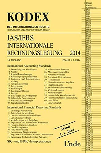 9783714302639: KODEX Internationale Rechnungslegung IAS/IFRS 2014