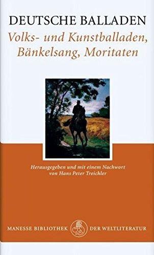 9783717518402: Deutsche Balladen. Volks- und Kunstballaden, Bänkelsang, Moritaten.