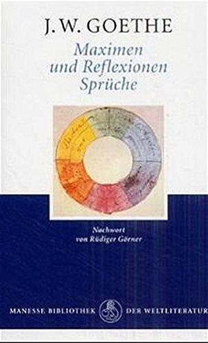 9783717519706 Maximen Und Reflexionen Spruche Abebooks