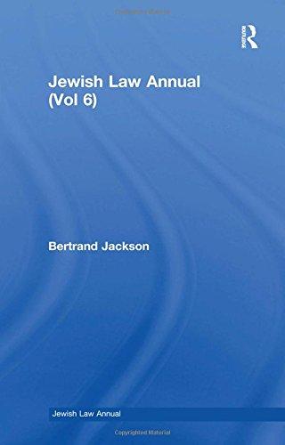 Jewish Law Annual: Vol 006: B. Jackson