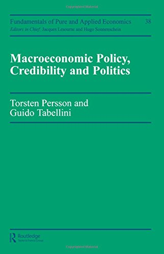 9783718650293: Macroeconomic Policy, Credibility and Politics (Fundamentals of Pure and Applied Economics 38)