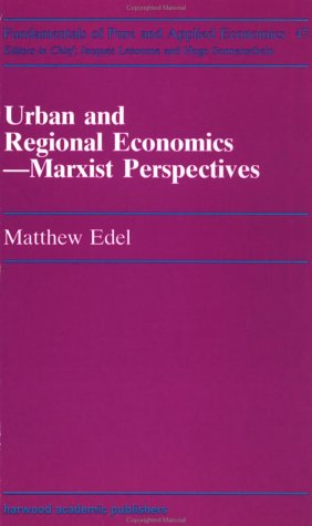 9783718651023: Urban and Regional Economics: Marxist Perspectives (Fundamentals of Pure and Applied Economics Series)