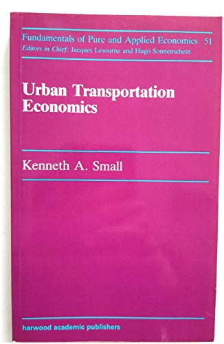 9783718651696: Urban Transport Economics (Fundamentals of Pure and Applied Economics)