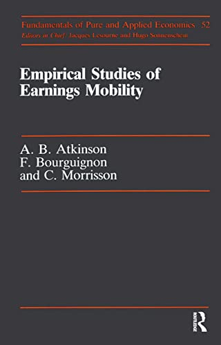 Empirical Studies Of Earnings (Fundamentals of Pure: Atkinson, Anthony Barnes,