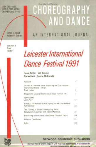 Second Leicester International Dance Festival: A special issue of the journal Choreography and Dance (Second Leicester International Dance Festival, Part 1) (3718653206) by McDonald, Donna