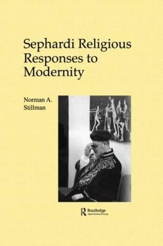 9783718656998: Sephardi Religious Responses to Modernity (The Sherman Lecture Series, Vol. 1)