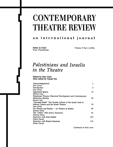 9783718657094: PALESTINIANS AND ISRAELIS IN THE THEATRE