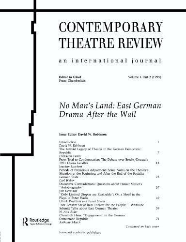 9783718657865: No Man's Land: East German Drama After the Wall (Contemporary Theatre Review)