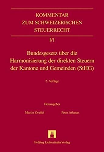 Bundesgesetz über die Harmonisierung der direkten Steuern: Martin Zweifel, Peter