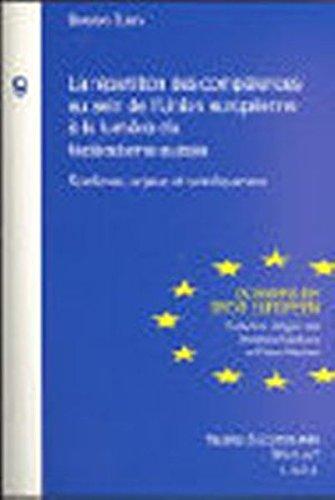 La répartition des compétences au sein de l'Union européenne à la ...