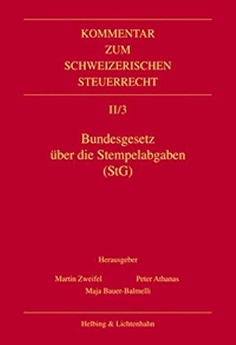 Bundesgesetz über die Stempelabgaben (StG): Martin Zweifel
