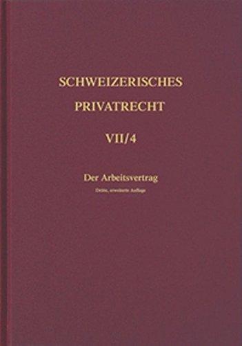 Schweizerisches Privatrecht / Obligationenrecht - Besondere Vertragsverhältnisse / Der ...