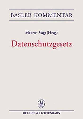 9783719023836: Basler Kommentar Datenschutzgesetz