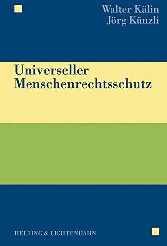 9783719024598: Universeller Menschenrechtsschutz