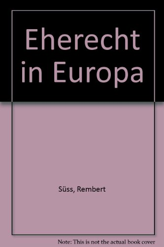 9783719024734: Eherecht in Europa