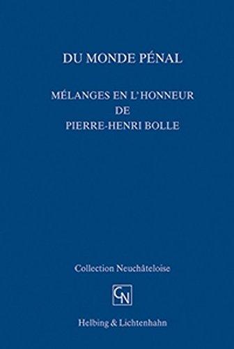 9783719025809: Du monde péenal. Mélanges en l'honneur de Pierre-Henri Boille