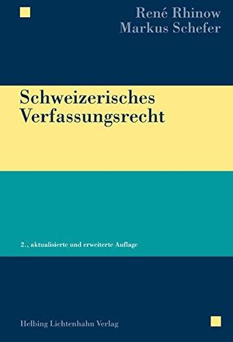 9783719026004: Schweizerisches Verfassungsrecht