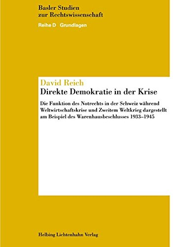 Direkte Demokratie in der Krise: David Reich