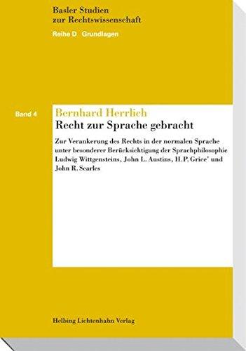 Recht zur Sprache gebracht: Bernhard Herrlich