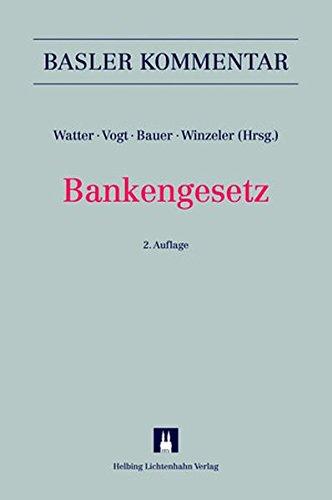9783719028787: Bankengesetz
