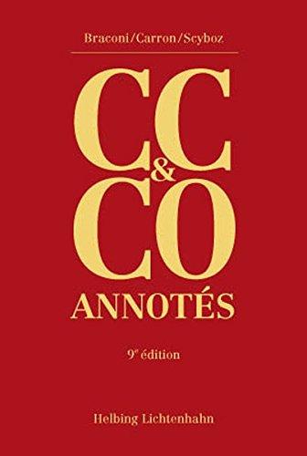9783719030407: Code Civil Suisse et Code des Obligations Annotes - Neuvième Édition