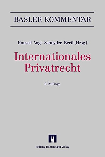 Internationales Privatrecht (IPRG): Anton K. Schnyder