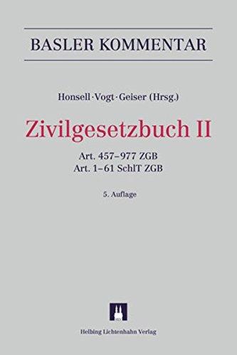 Basler Kommentar Zivilgesetzbuch II: Heinrich Honsell
