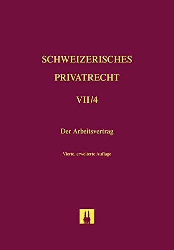 Der Arbeitsvertrag: Frank Vischer