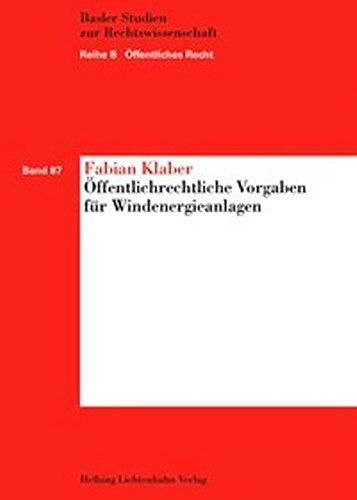 Offentlichrechtliche Vorgaben fur Windenergieanlagen: Fabian Klaber