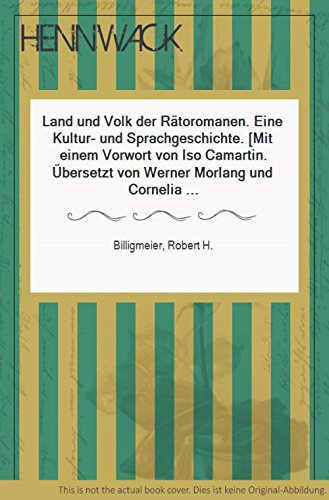 9783719308827: Land und Volk der Rätoromanen : e. Kultur- u. Sprachgeschichte.