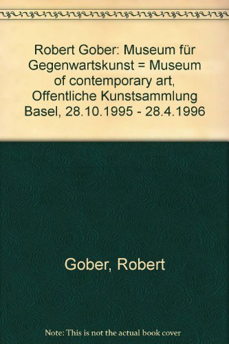 Robert Gober (German Edition) (9783720400879) by Robert Gober