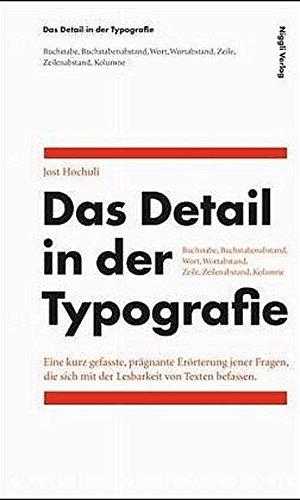 9783721205473: Das Detail in der Typografie