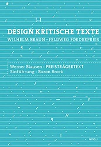 Designkritische Texte Band 2 : Sustainable Water: Mayer, Lars / Brock, Bazon